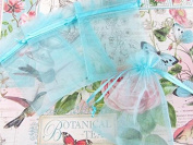 50pc Drawstring 10cm x 15cm Organza Gift Bag (NO4-Baby Blue) US SELLER SHIP FAST