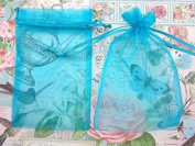50pc Drawstring 10cm x 15cm Organza Gift Bag (NO4-Turquoise Blue) US SELLER SHIP FAST