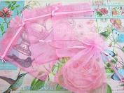 50pc Drawstring 10cm x 15cm Organza Gift Bag (NO4-Pink) US SELLER SHIP FAST