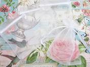 50pc Drawstring 10cm x 15cm Organza Gift Bag (NO4-White) US SELLER SHIP FAST