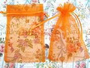 50pc Drawstring 10cm x 15cm Organza Gift Bag (NO4-Orange) US SELLER SHIP FAST