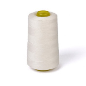 E for World 1 Spool Jeans Sewing Thread for Sewing Machine 40S/2 Unbleached White