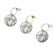 The Elegant Knitter Dragonfly Knitting Needle Charms, Set of 3, Silver, Large