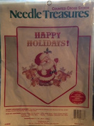 Needle Treasures Happy Holidays Banner Counted Cross Stitch #02863