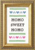 """Subversive Cross Stitch """"Homo Sweet Homo"""" Deluxe Kit"""