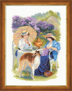 RIOLIS cross stitch kit 1141 The Russian country estate. The Lilac Blossoms
