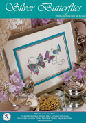 Silver Butterflies Embroidery Kit