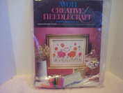 Avon Creative Needlecraft Crewel Embroidery Kit - Piglets & Posies Picture