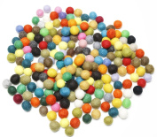 Happy Classy 10 mm Felt Balls 100 pieces Multi Bright Colours Hand Felted Nepal