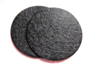 YYCRAFT Pack Of 300 Pieces Felt Circle Applique-Black