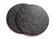 YYCRAFT Pack Of 300 Pieces Felt Circle Applique-Black