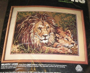 Majestic Lions Needlepoint Kit - 20x16