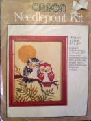 Owls on a Limb - Caron Needlepoint Kit #4588