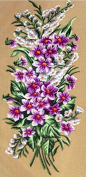 VIOLET BRANCH NEEDLEPOINT CANVAS FROM GOBELIN L #18.628 CANVAS ONLY, NOT A KIT