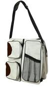 Baby Comfort Plus Convertible Bassinet Travel Nappy Bag, Beige