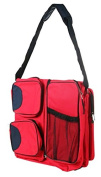 Baby Comfort Plus Convertible 3 in 1 Multi-Pocketed Baby Bag, Red