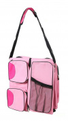 Baby Comfort Plus Baby Change Station Travel Organiser Bag, Pink