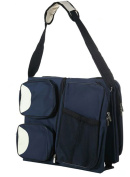 Baby Comfort Plus Convertible 3 in 1 Multi-Pocketed Baby Bag, Blue