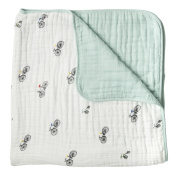 Little Unicorn Cotton Muslin Quilt Blanket -Bikes