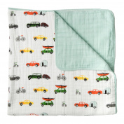 Little Unicorn Cotton Muslin Quilt Blanket - Traffic Jam