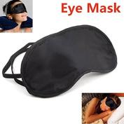 Xyindia(TM) 3 Pcs/Lot Portable Soft Travel Sleep Rest Aid Eye Mask Cover Eye Patch Sleeping Mask Black Shade Blindfold Eye Patch H072