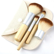 Xyindia(TM. high quality Mini 4Pcs makeup brushes Earth-Friendly Bamboo Elaborate Makeup Brush Sets best makeup tools