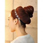 Ascentan(TM)Women's Hair Band High Quality Hollow out Rose Camellia Flower Headband Hair Accessories Soft Elastic Headbands Headwear