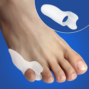 Buildent(TM)2pcs Silicone Gel Foot Care Tool toe Separator & Little toe valgus protector & Bunion adjuster for Women.