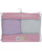 "Snugly Baby ""Crown Me a Princess"" 2-Pack Crib Sheets - white/lilac, one size"