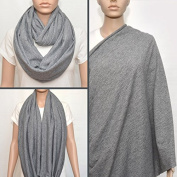 Grey nursing cover scarf, nursing cover, nursing scarf, infinity scarf, breastfeeding cover, nursing infinity scarf, Baby Shower Gift