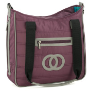 Cosy Coop Quilted Nappy Bag, Colour Eggplant