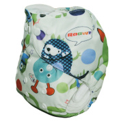 Sweet New ALVA Reusable Washable Fashion Baby Cloth Nappy Nappy+1 Insert S45