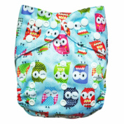 1 New Alva Reusable Lot Baby Washable Cloth Nappy Nappy +1 Insert Owly N15