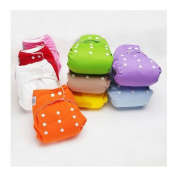 New 10 PCS+10 INSERTS Adjustable Reusable Lot Baby Washable Cloth Nappy Nappies