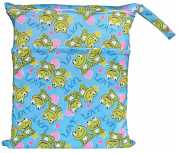 Wet Dry Bag Baby Cloth Nappy Nappy Bag Reusable with Two Zippered Pockets