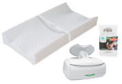2-Sided Contoured Changing Pad with Ultimate Wipes Warmer & Replacement Pillows