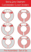 Red Elephant Baby Closet Dividers