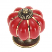 WICOO 5 Pcs Pumpkin Ceramic Drawer Cabinet Knobs Kitchen Bedroom Door Pull Handles