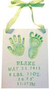 Premium Newborn Baby Handprint and Footprint Customised Clay Keepsake