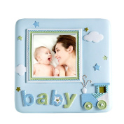 Baby Picture Frame Cute Blue Cartoon Frame 7.6cm by 7.6cm