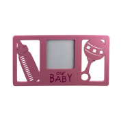 Beautiful Our Baby Pink Wooden Picture Frame with Designs