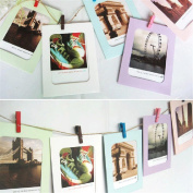GOTD Wall Decor DIY Paper Photo Picture Frames 10cm x 15cm Hanging Film Frame Set with 7PCs Mini Clothespins and Long Rope for Living Room Bedroom 15cm