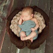 Sunmig Newborn Baby Roving Braid Wool Spinning Fibre Rugs Photography Photo Props