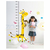UltimaFio(TM)giraffe height wall sticker for kids room ZooYoo831 decorative adesivo de parede removable pvc wall decal posters 3.5