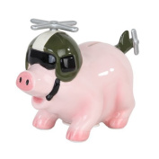 Pacific Giftware Ceramic Helicopter Savings Piggy/Coin/Money Bank 17cm