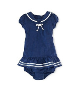 Ralph Lauren Polo Baby Girls Nautical Dress Set