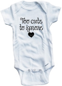 Baby Tee Time Girls' Too Cute To Ignore One piece