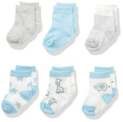 BON BEBE Unisex Baby Best Friends Assorted 6 Pack Sock Set