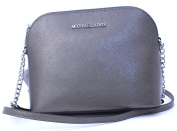 Michael Kors Cindy Large Dome Crossbody (Nickel) Leather