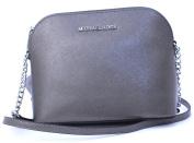 Michael Kors Cindy Large Dome Crossbody (Nickel) Leather